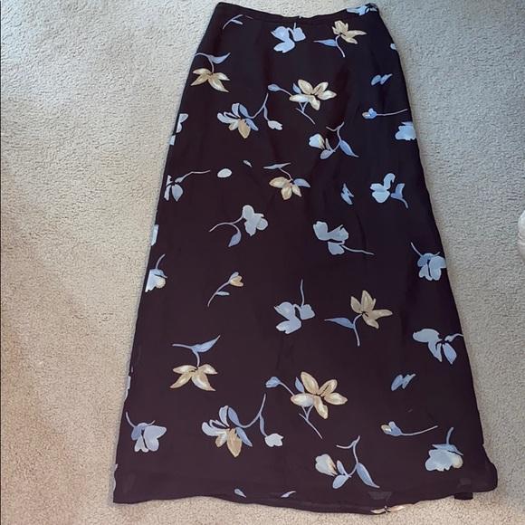 Harold's Dresses & Skirts - Dark brown full length skirt